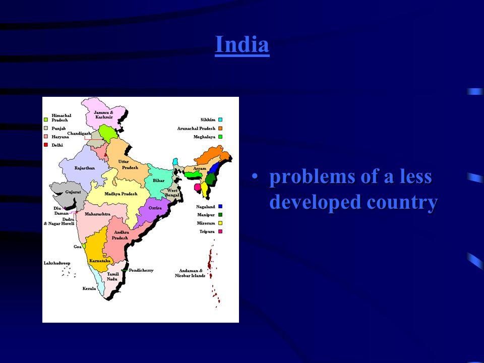 Indien Probleme eines Entwicklungslandes