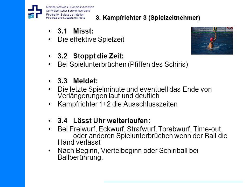 Member of Swiss Olympic Association Schweizerischer Schwimmverband Fédération Suisse de natation Federazione Svizzera di Nuoto 3.