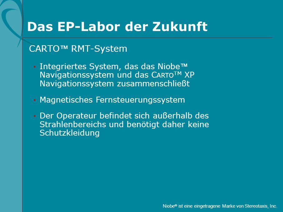 Das EP-Labor der Zukunft Integriertes System, das das Niobe Navigationssystem und das C ARTO TM XP Navigationssystem zusammenschließt Magnetisches Fer