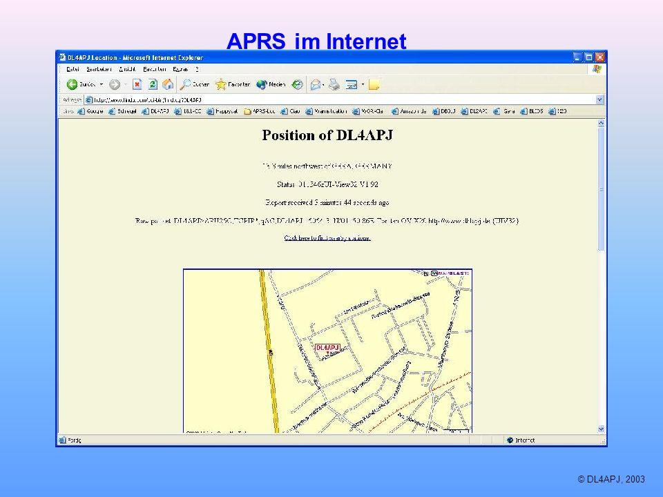 © DL4APJ, 2003 APRS im Internet