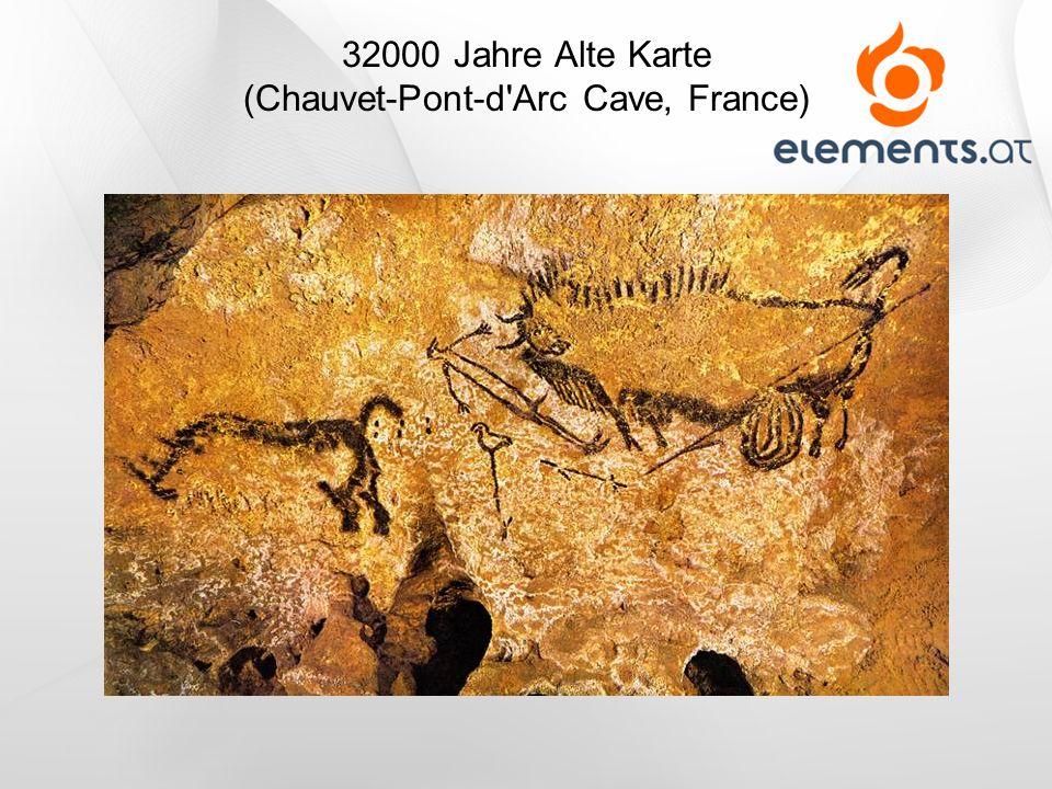 32000 Jahre Alte Karte (Chauvet-Pont-d'Arc Cave, France)