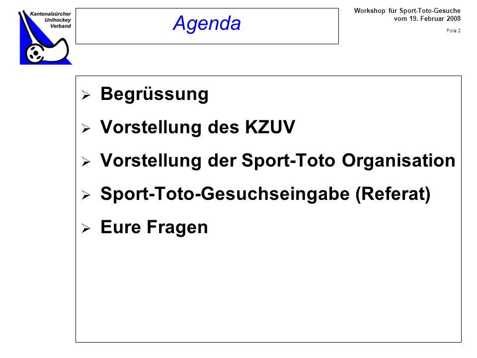 Workshop für Sport-Toto-Gesuche vom 19.