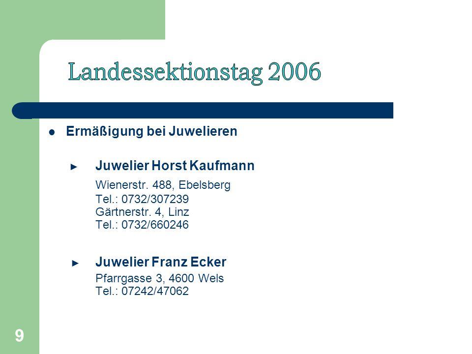 9 Ermäßigung bei Juwelieren Juwelier Horst Kaufmann Wienerstr.
