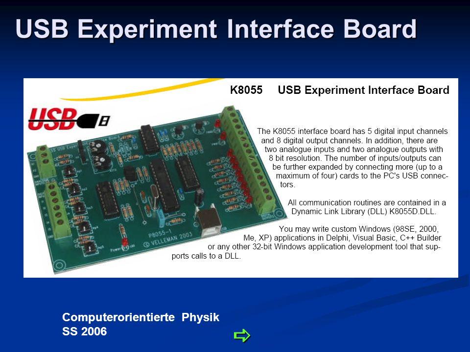 Computerorientierte Physik SS 2006 Schaltplan