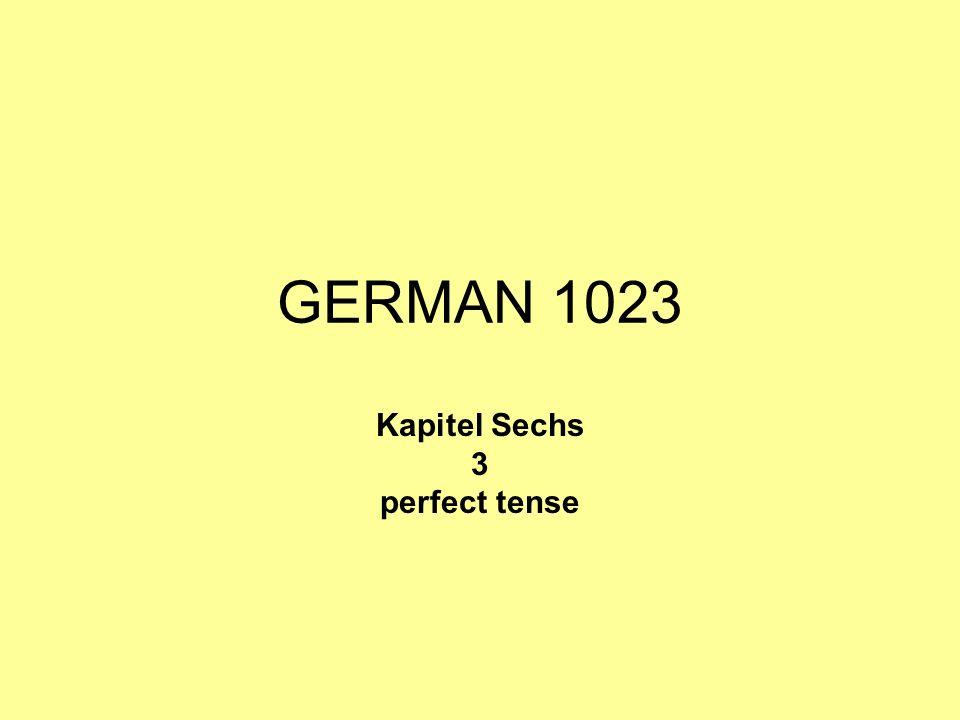 GERMAN 1023 Kapitel Sechs 3 perfect tense