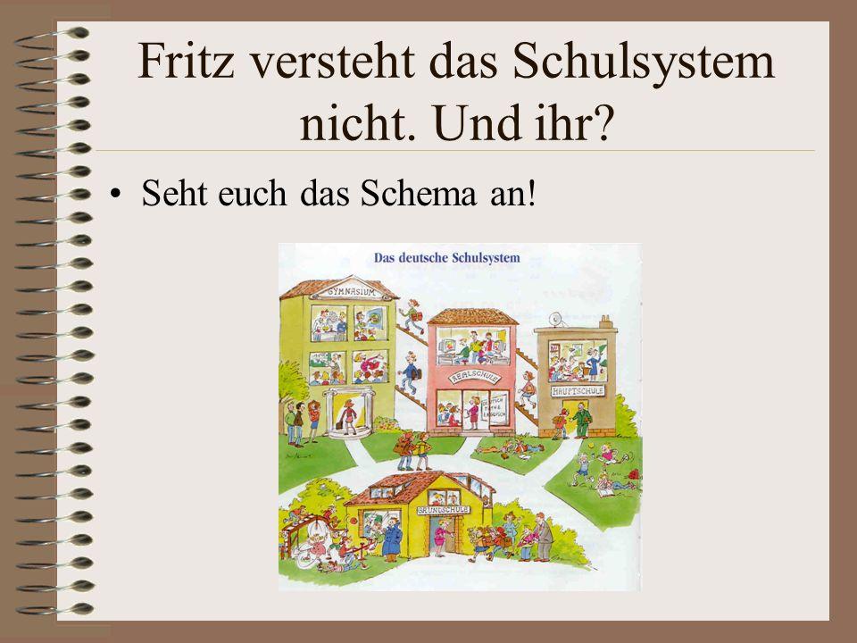 Fritz genießt seine Schultage. Das sieht man in seinem Zeugnis aus der Grundschule.