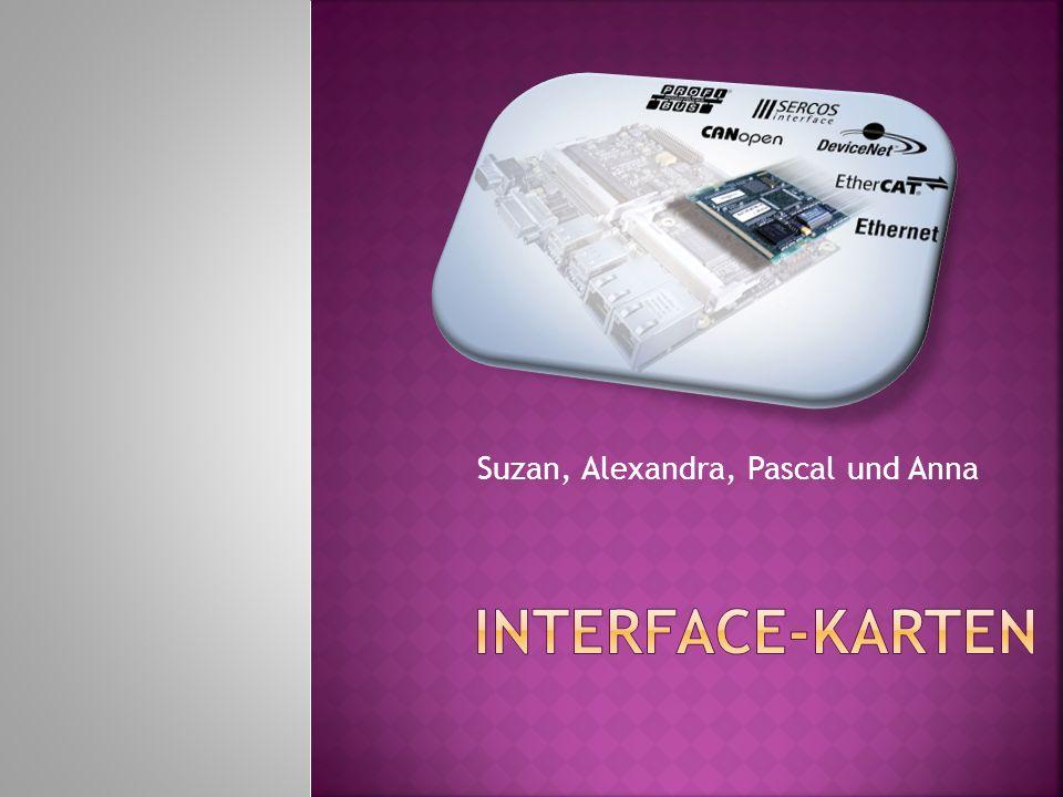 Neben den uns all bekannten Schnittstellen gibt es auch noch die Schnittstellenkarten (Interface – Karte) die für Spezielle Aufgaben eingerichtet werden können.