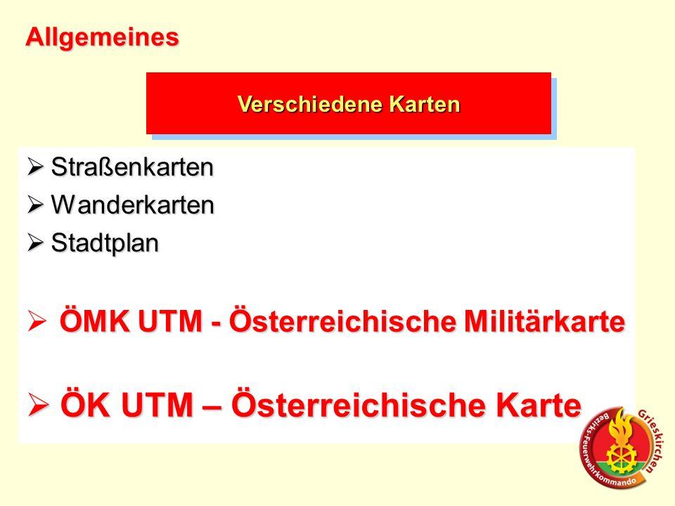 Straßenkarten Straßenkarten Wanderkarten Wanderkarten Stadtplan Stadtplan ÖMK UTM - Österreichische Militärkarte ÖK UTM – Österreichische Karte ÖK UTM – Österreichische Karte Verschiedene Karten Allgemeines