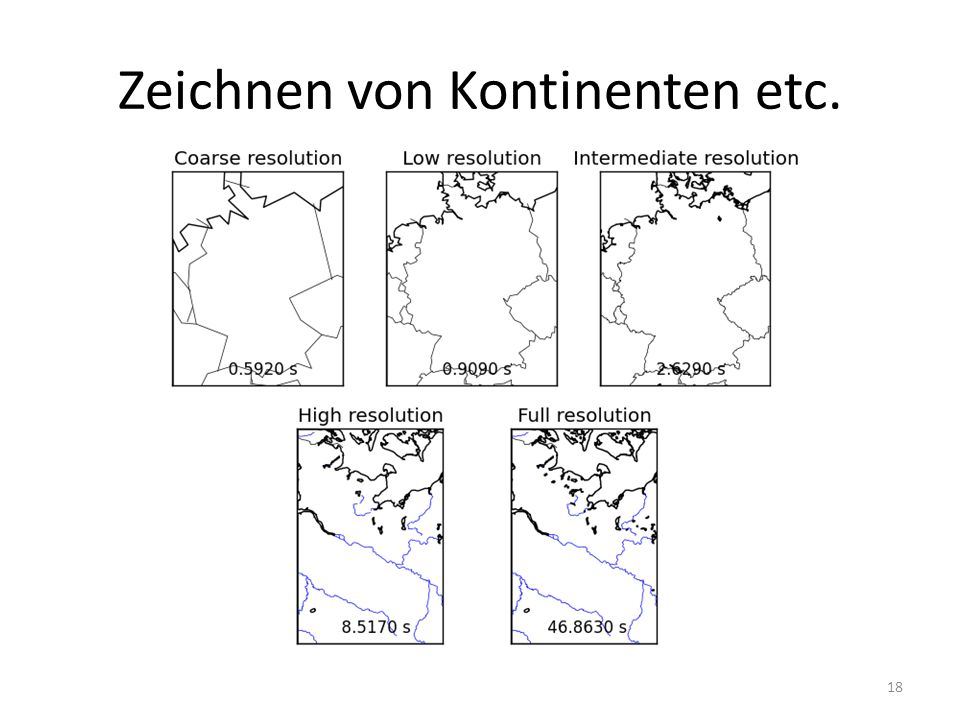 Zeichnen von Kontinenten etc. 18