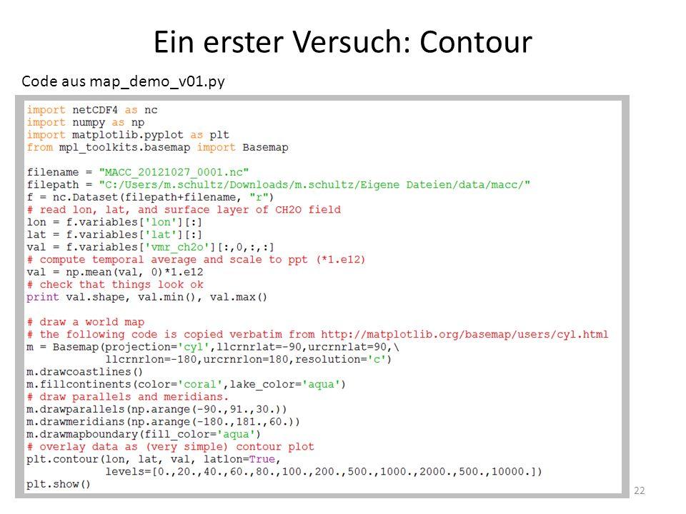 Ein erster Versuch: Contour 22 Code aus map_demo_v01.py