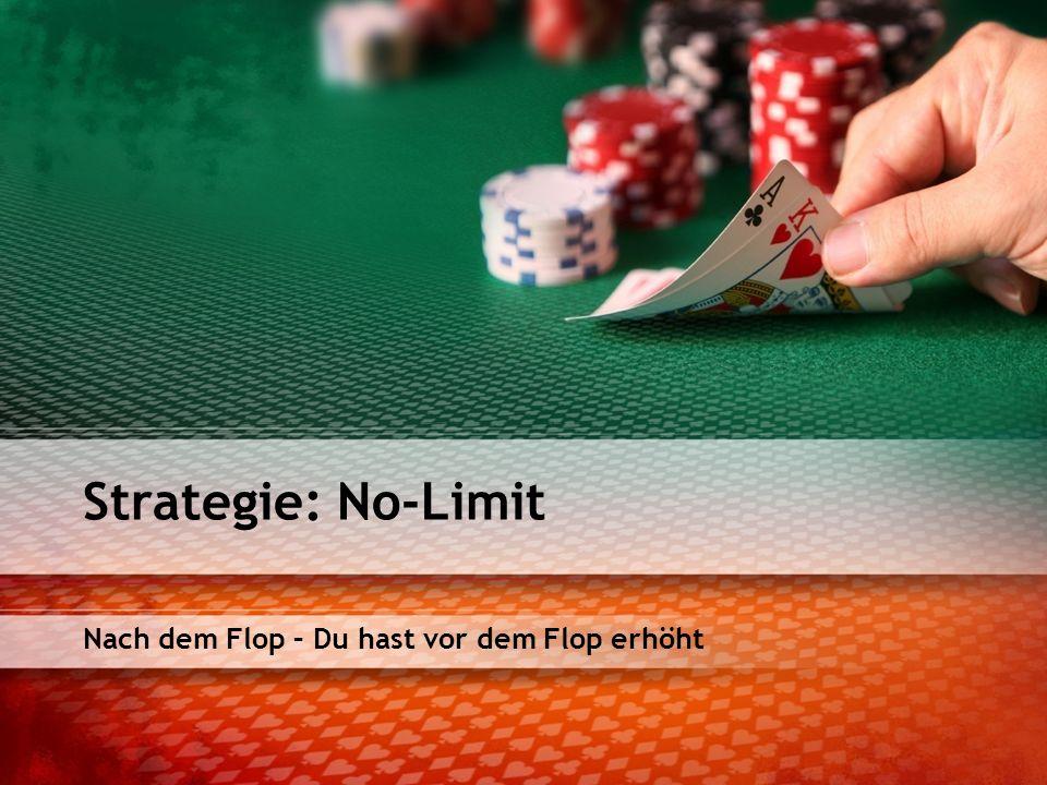 Nach dem Flop – Du hast vor dem Flop erhöht Strategie: No-Limit