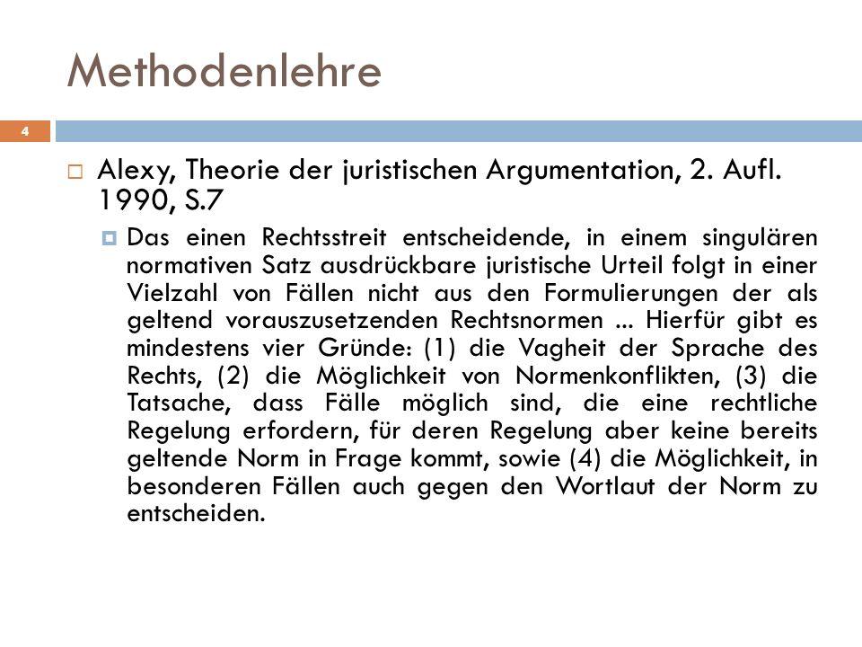 4 Alexy, Theorie der juristischen Argumentation, 2.