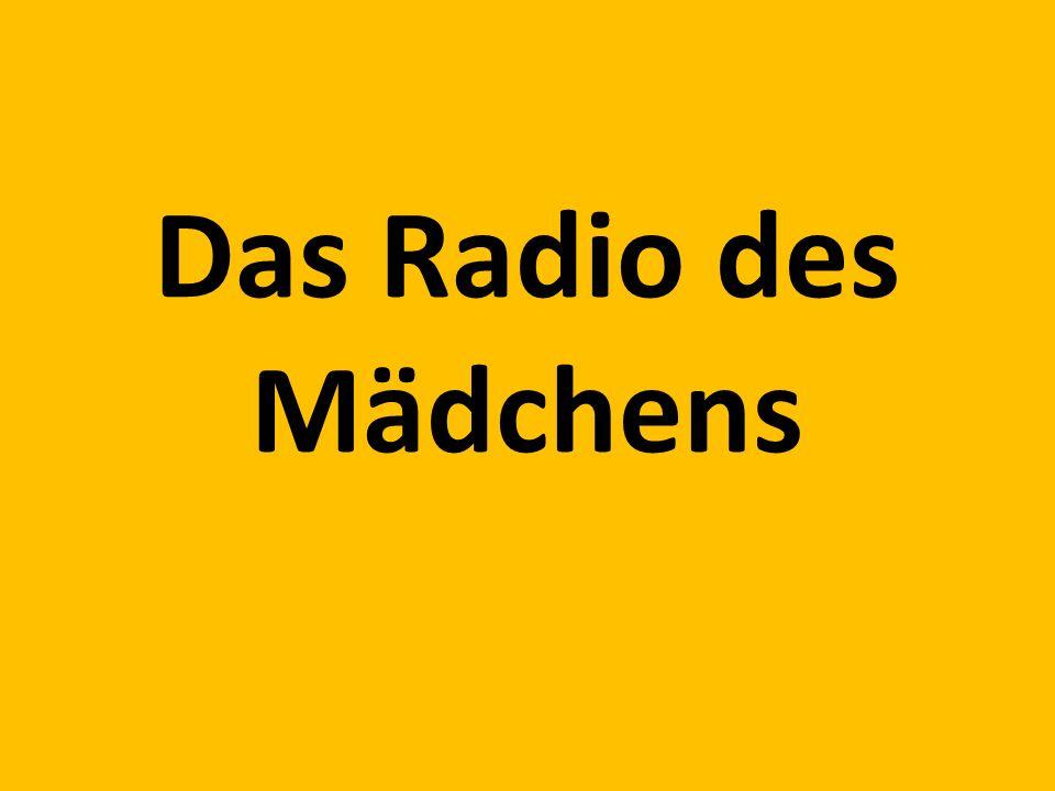 Das Radio des Mädchens