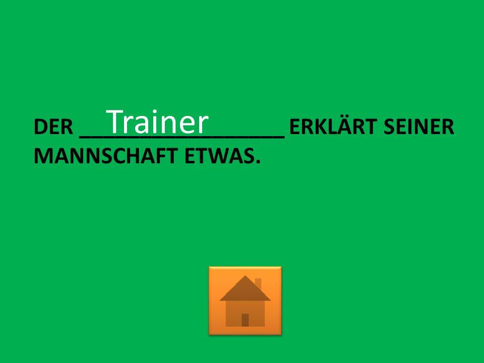 DER _________________ ERKLÄRT SEINER MANNSCHAFT ETWAS. Trainer