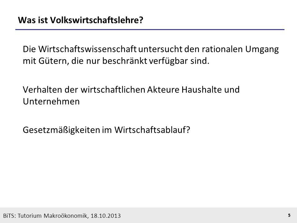 KOOTHS | BiTS: Makroökonomik WS 2013/2014, Fassung 1 26 Sektorale Interdependenz HaushalteUnternehmen Gütermärkte Faktormärkte Vgl.