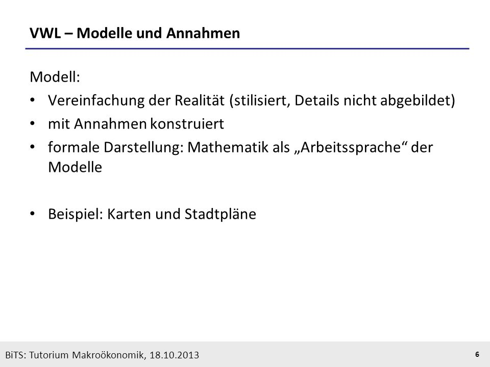 KOOTHS | BiTS: Makroökonomik WS 2013/2014, Fassung 1 27 1.