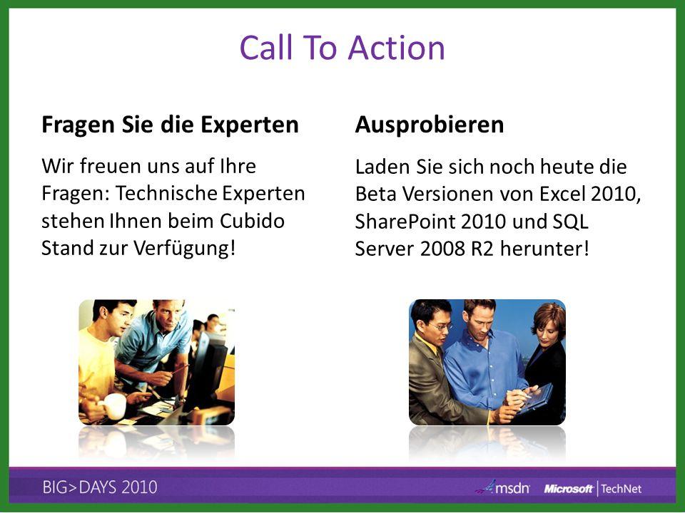 Call To Action Fragen Sie die Experten Wir freuen uns auf Ihre Fragen: Technische Experten stehen Ihnen beim Cubido Stand zur Verfügung! Ausprobieren