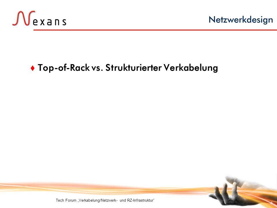 6 Netzwerkdesign Top-of-Rack vs. Strukturierter Verkabelung Tech Forum Verkabelung/Netzwerk- und RZ-Infrastruktur 6