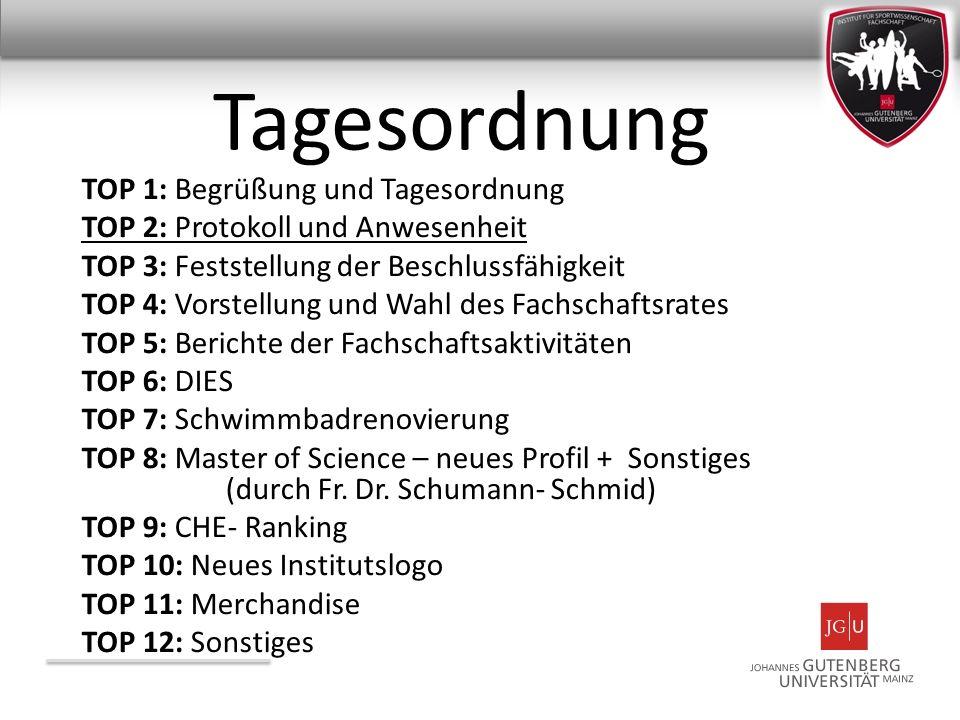 TOP 6: DIES Neues Konzept des Dies Gymnasticus Ziele der Veranstaltung: 1.