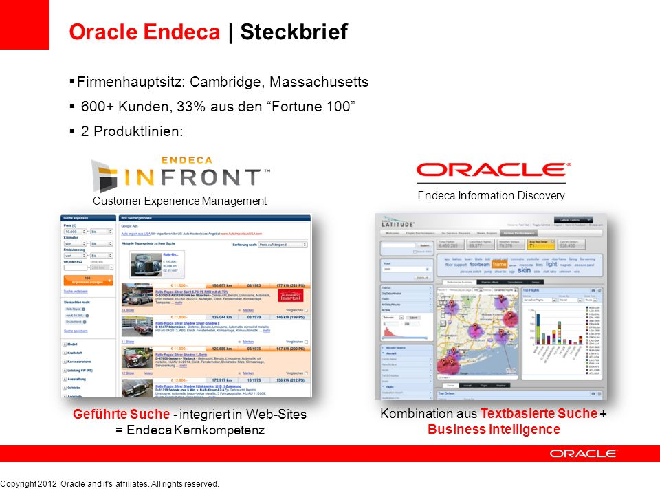 Oracle Endeca | Guided Search Dynam.