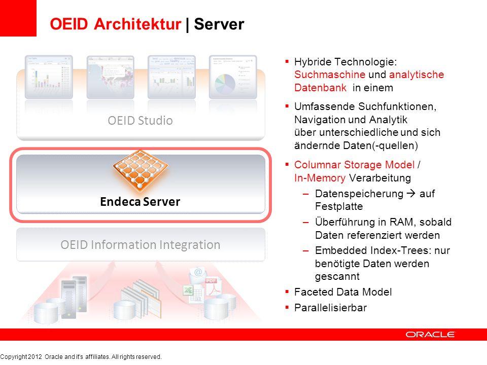 OEID Architektur | Server Hybride Technologie: Suchmaschine und analytische Datenbank in einem Umfassende Suchfunktionen, Navigation und Analytik über