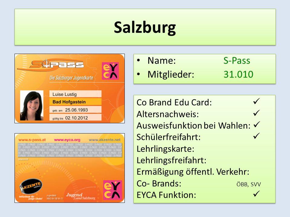 Steiermark Name: Checkit.card Mitglieder: 65.516 Name: Checkit.card Mitglieder: 65.516 Co Brand Edu Card: Altersnachweis: Ausweisfunktion bei Wahlen: Schülerfreifahrt: Lehrlingskarte: Lehrlingsfreifahrt: Ermäßigung öffentl.