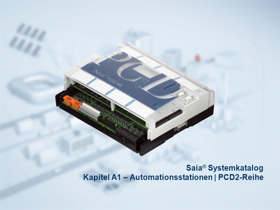 Saia ® Systemkatalog Kapitel A1 – Automationsstationen | PCD2-Reihe