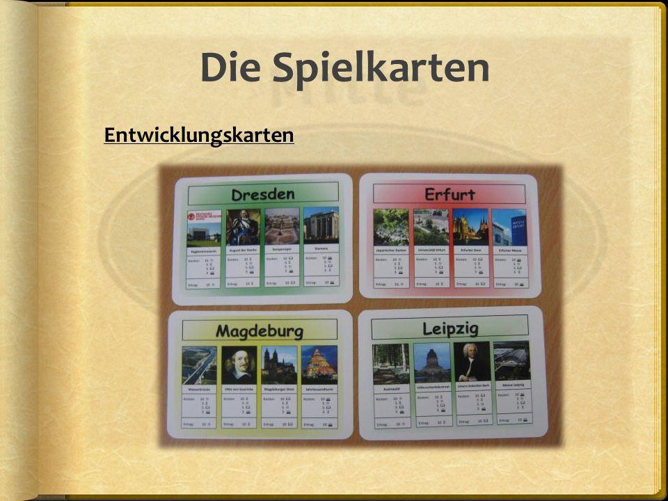 Die Spielkarten Fragekarte TN, SN und STAktionskarte Gemeinschaftskarte Überraschungskarte