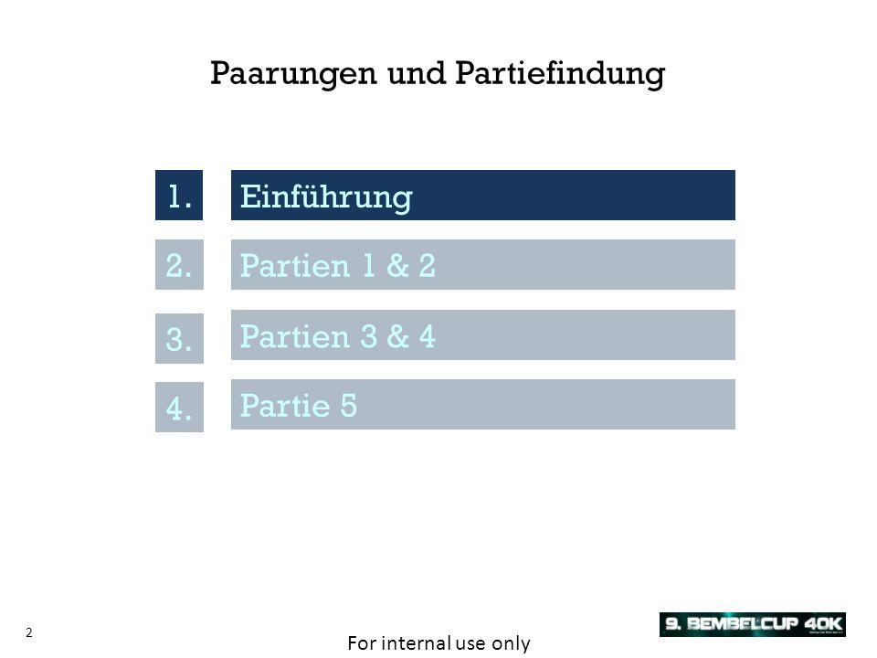 For internal use only 3 Einführung1.