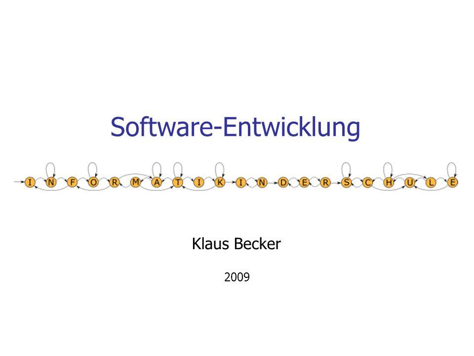 Software-Entwicklung Klaus Becker 2009