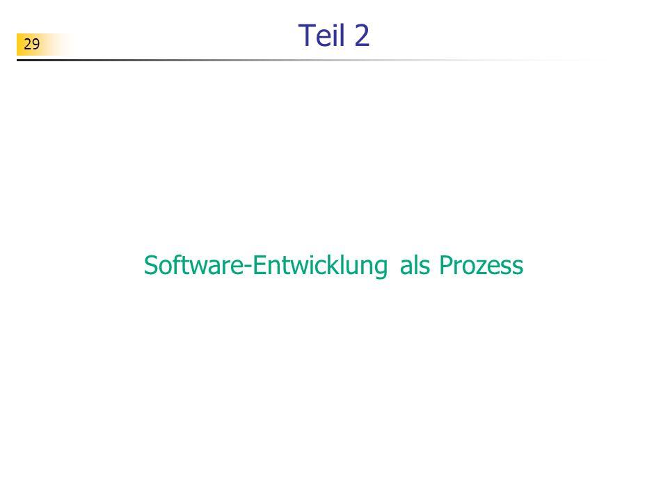 29 Teil 2 Software-Entwicklung als Prozess