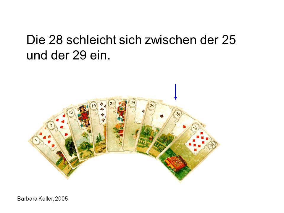 Barbara Keller, 2005 Die 28 schleicht sich zwischen der 25 und der 29 ein.