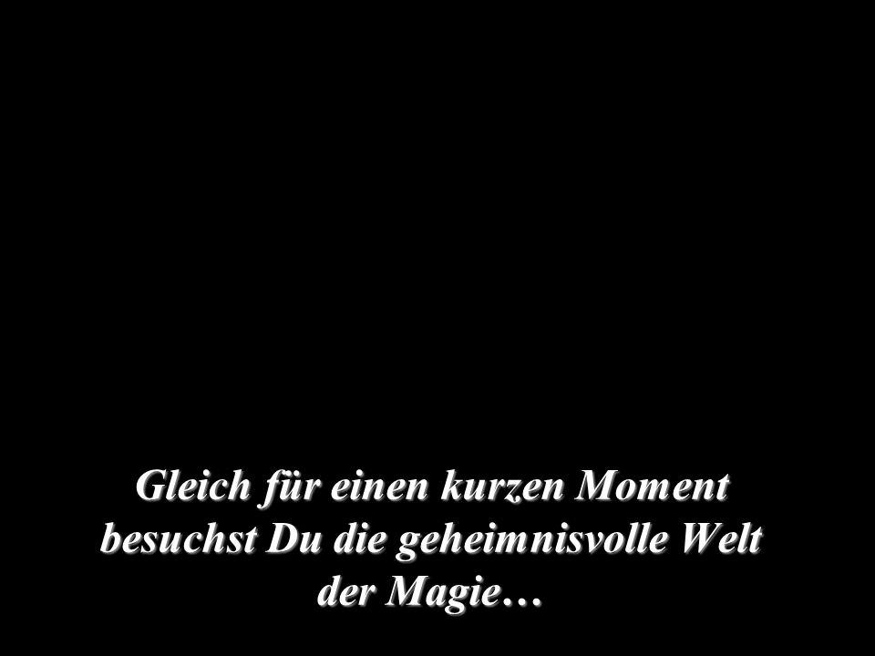 Gleich für einen kurzen Moment besuchst Du die geheimnisvolle Welt der Magie…