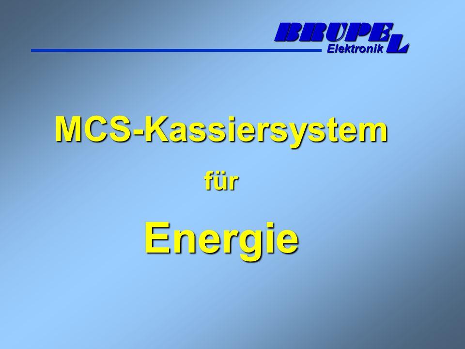 MCS-Kassiersystem für Energie BRUPE Elektronik L