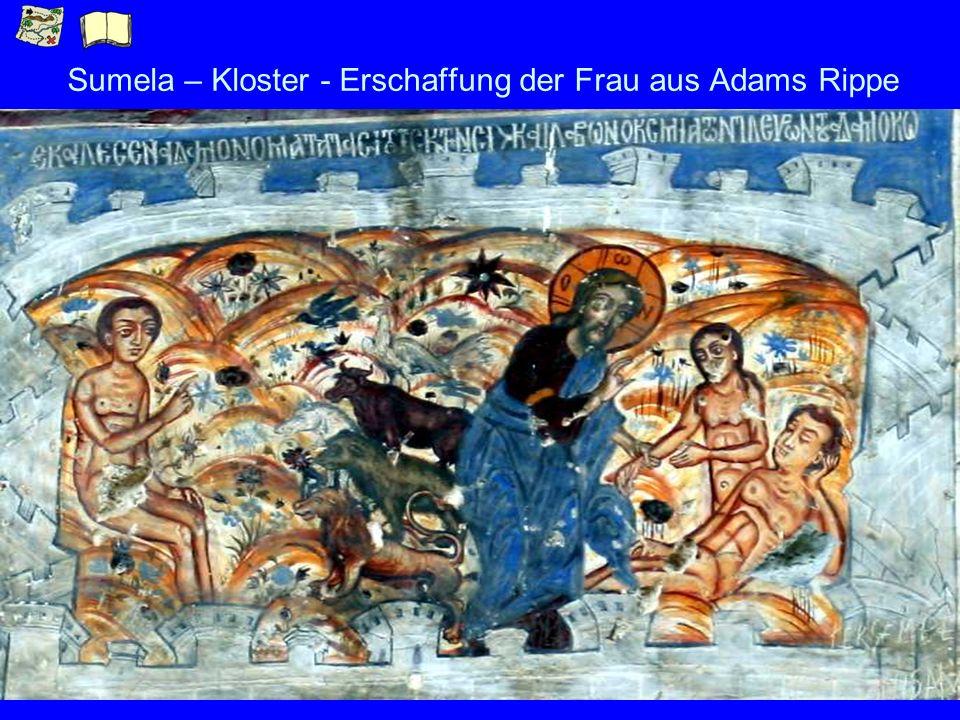Sumela – Kloster - Erschaffung der Frau aus Adams Rippe