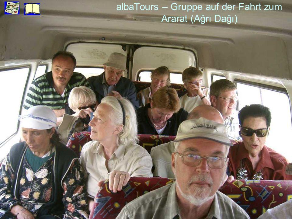 albaTours – Gruppe auf der Fahrt zum Ararat (Ağrı Dağı)