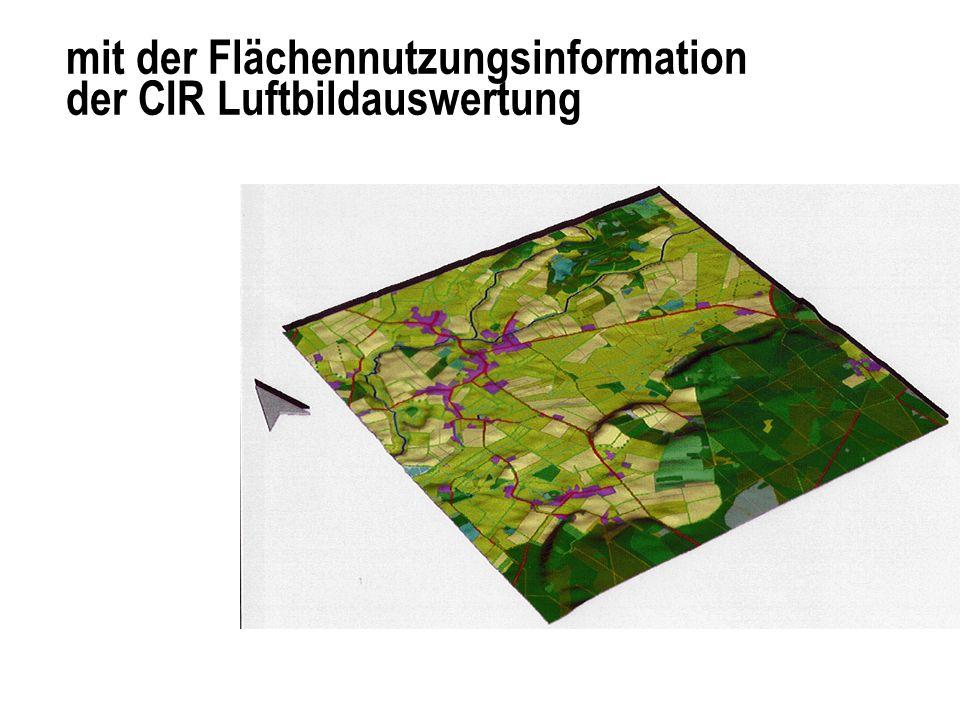 Abweichungen in der Flächennutzungsansprache zwischen ATKIS und Biotoptypenkarte in Prozent der Fläche (Osteraugebiet, 16 qkm)