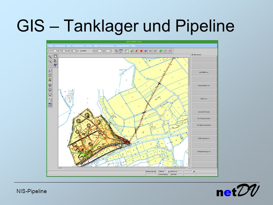 NIS-Pipeline GIS – Tanklager und Pipeline