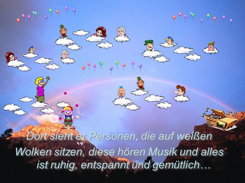 Am nächsten Tag kommt Engel Gabriel und sie gehen wieder in den Fahrstuhl und fahren hinauf ins Paradies…