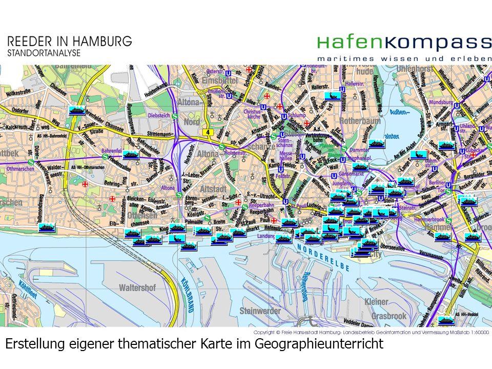 Erstellung eigener thematischer Karte im Geographieunterricht