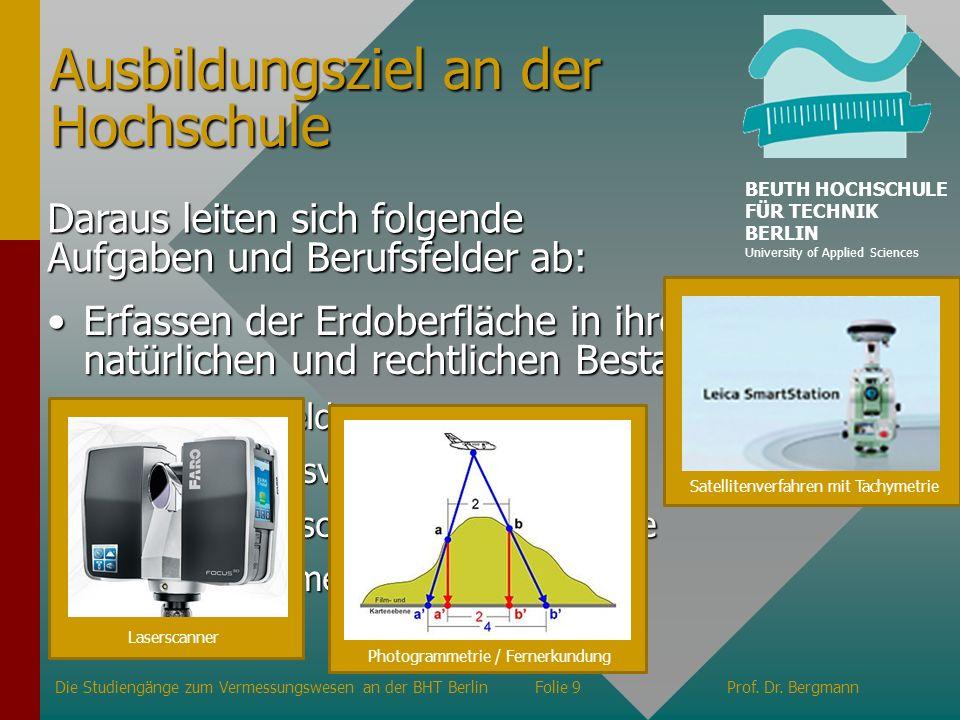 Strukturen und wichtige Adressen Verwaltung der BHT Berlin Fachbereiche Präsident Prof.
