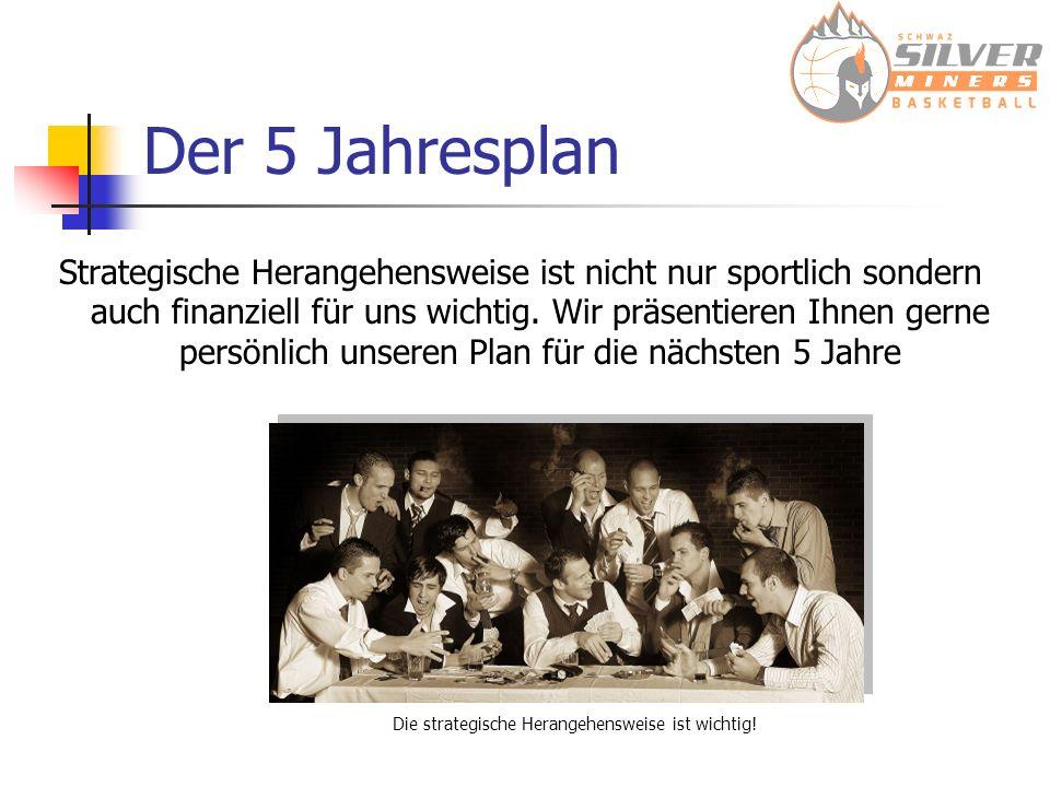 Der 5 Jahresplan Strategische Herangehensweise ist nicht nur sportlich sondern auch finanziell für uns wichtig.