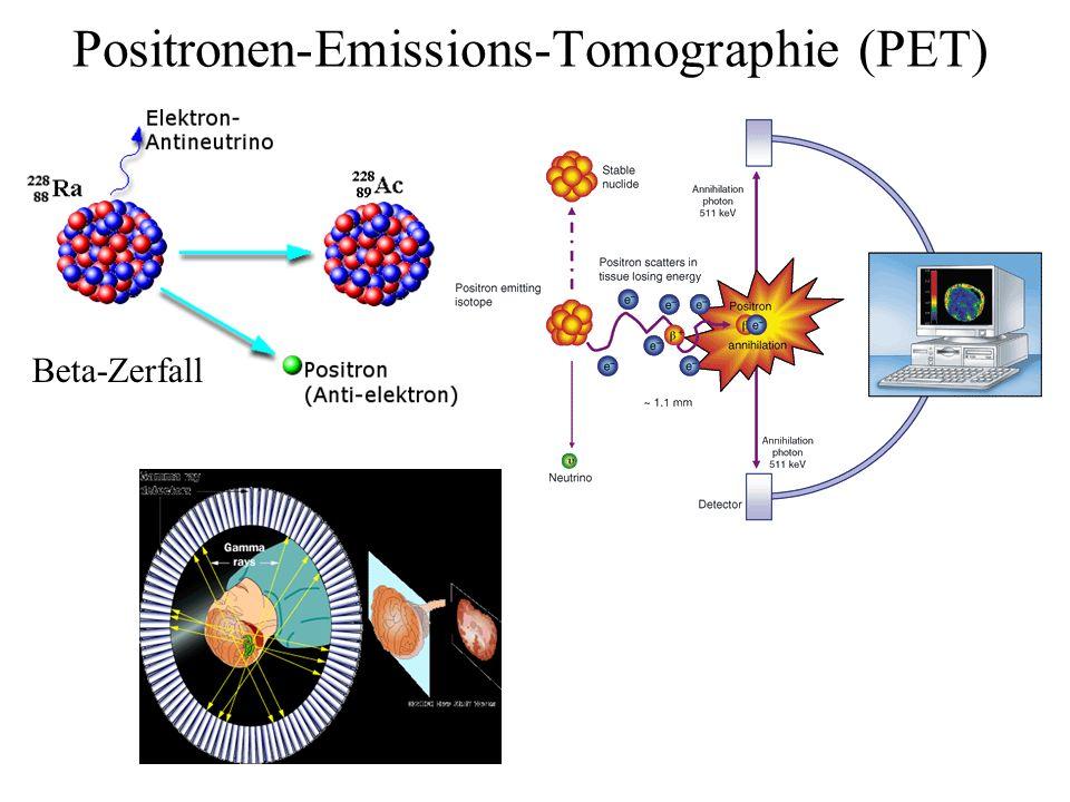 Positronen-Emissions-Tomographie (PET) Beta-Zerfall