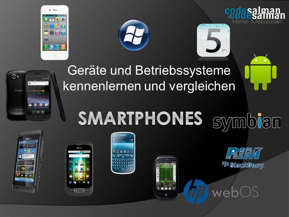 Aktuelle Smartphones Nokia UIQ, Nokia S60, Sony Ericsson U5i vivaz Keine besonderen Merkmale: Symbian verpasste die Touchscreen-Welle und dementsprechend den Anschluss als Marktführer