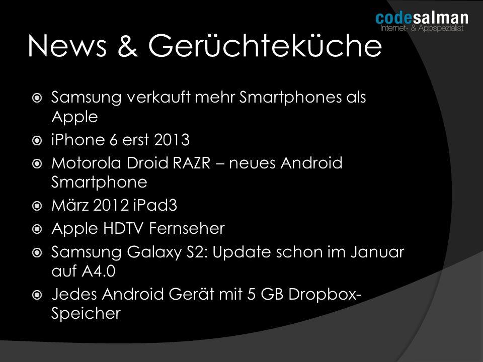 News & Gerüchteküche Samsung verkauft mehr Smartphones als Apple iPhone 6 erst 2013 Motorola Droid RAZR – neues Android Smartphone März 2012 iPad3 App