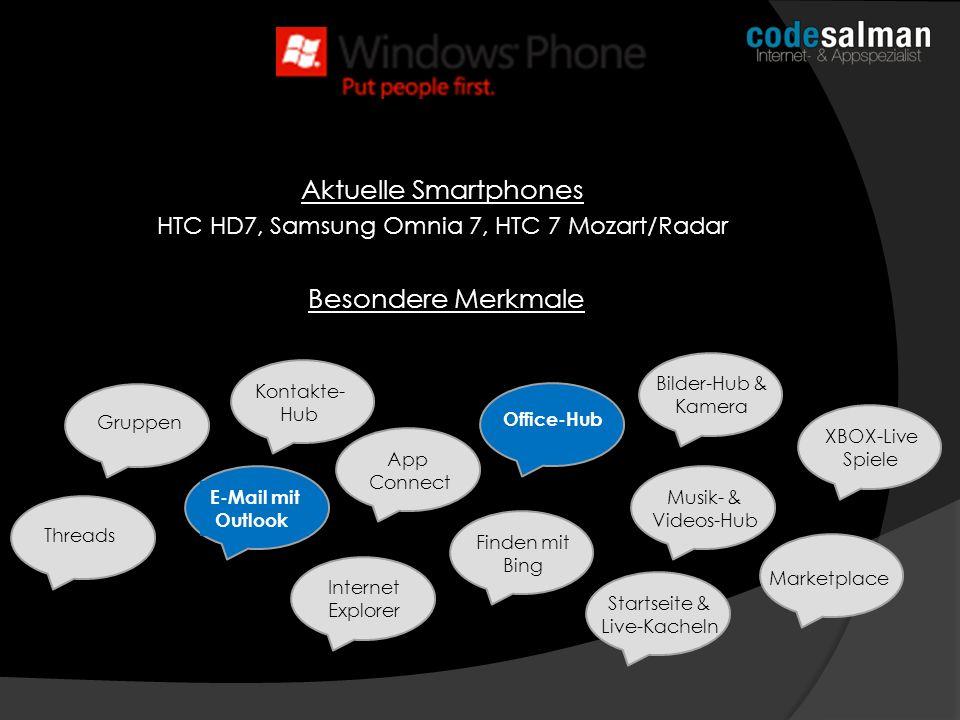 Liefert nur das Betriebssystem (sehr strenge Vorgaben für Smartphones) Windows Mobile wird zu Windows Phone Neuester Partner: Nokia Diese werden ihre AppStores verschmelzen, größere Projekte stehen an (Navteq Karten für Bing) Existiert nur für Smartphones, für Tablets soll Windows 8 als Betriebssystem voraussichtlich dienen Sehr kleiner Marktanteil Verdient dank Lizenzgebühren fleißig bei Android mit TENDENZ: gleichbleibend/negativ Marktentwicklung & Fakten