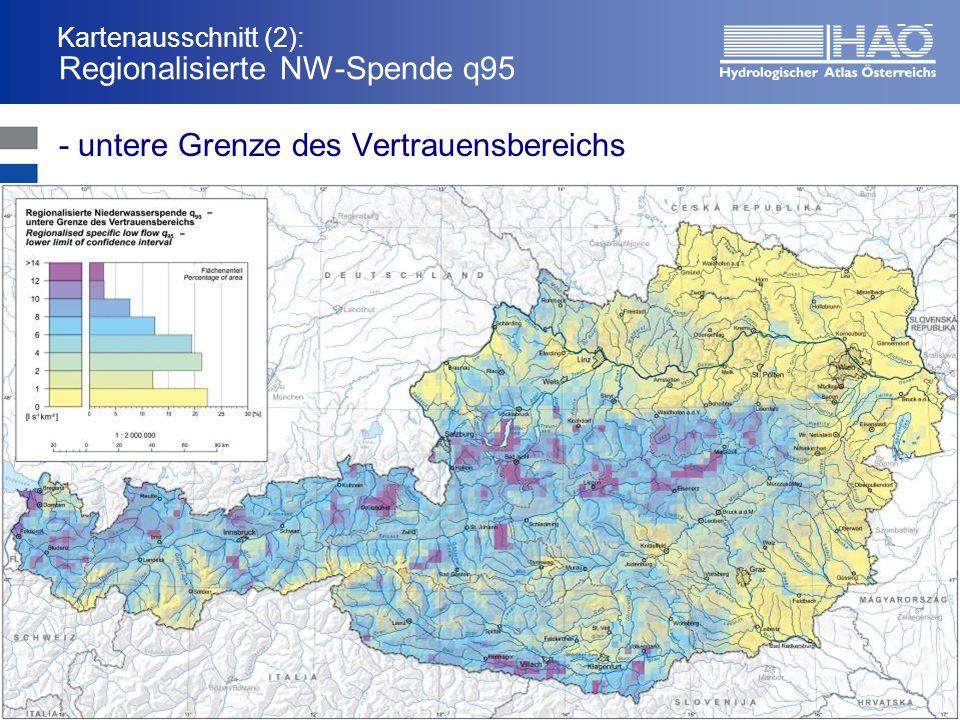 Kartenausschnitt (2): Regionalisierte NW-Spende q95 - untere Grenze des Vertrauensbereichs