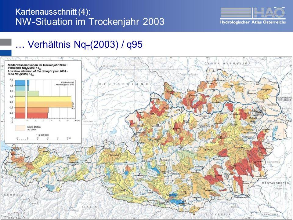 Kartenausschnitt (4): NW-Situation im Trockenjahr 2003 … Verhältnis Nq T (2003) / q95