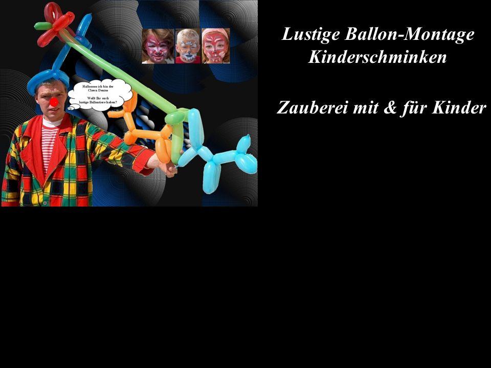 Lustige Ballon-Montage Kinderschminken