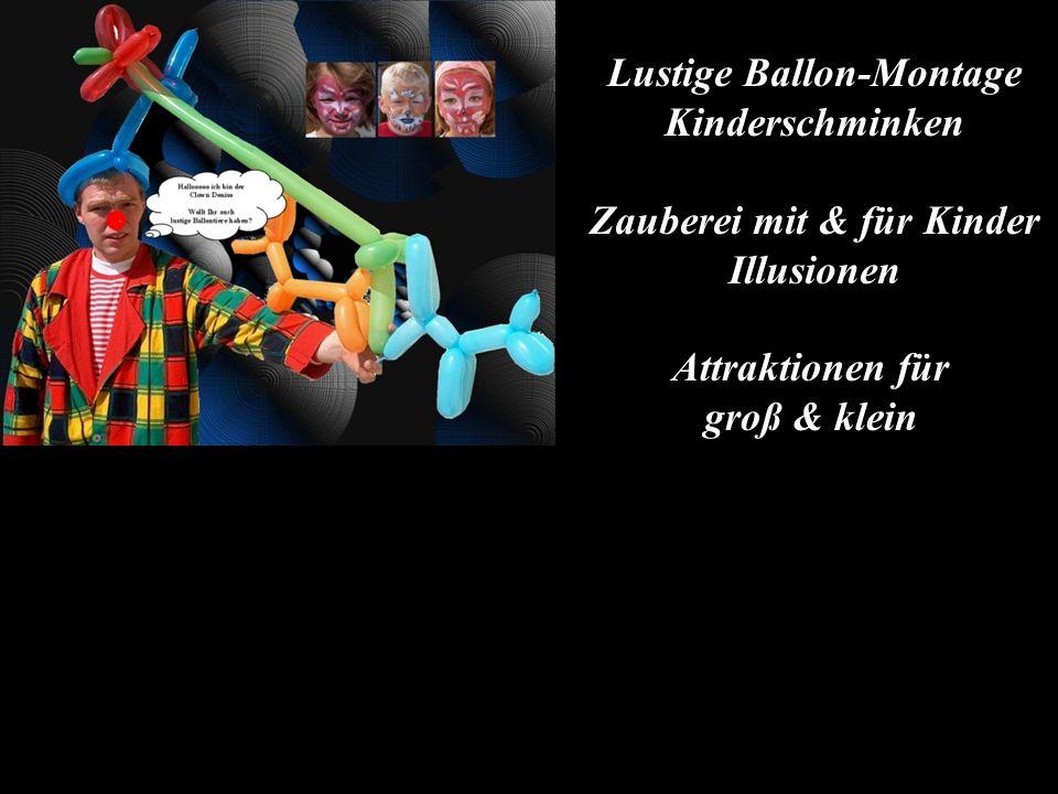 Lustige Ballon-Montage Kinderschminken Zauberei mit & für Kinder Illusionen